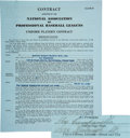 Baseball Collectibles:Others, 1946 Roy Campanella Double-Signed Class B Danville Dodgers Player's Contract. ...