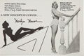 Miscellaneous Collectibles:General, 1950's Marilyn Monroe Protractor....