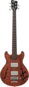 Musical Instruments:Bass Guitars, Circa 2014 Warwick Bass Star II Natural 5-String Electric Bass Guitar, Serial # C14991209...