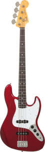 Musical Instruments:Bass Guitars, 1990's Fender '62 Re-Issue Jazz Bass Candy Apple Red Electric BassGuitar, Serial # R054399....