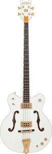 Musical Instruments:Bass Guitars, 2012 Gretsch White Falcon White Electric Bass Guitar, Serial # JT12104453....