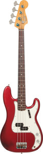Musical Instruments:Bass Guitars, Early 1980's Fender '62 Re-Issue Precision Bass Candy Apple Red Electric Bass Guitar, Serial # V029065....