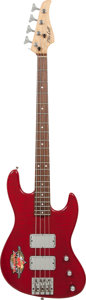 Musical Instruments:Bass Guitars, 2000 Mike Lull JT-4 Flame Red Electric Bass Guitar....
