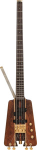 Musical Instruments:Bass Guitars, 1990's Warwick Nobby Meidel Natural Electric Bass Guitar....