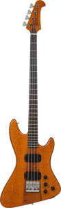 Musical Instruments:Bass Guitars, 1980's Overwater Deluxe Active II Natural Electric Bass Guitar....