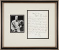 Miscellaneous Collectibles:General, 1940's Bill Tilden Handwritten & Signed Letter....