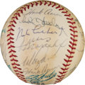 Baseball Collectibles:Balls, 1971 National League All-Star Team Signed Baseball with Don Wilson& Clemente. ...