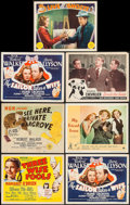 """Movie Posters:Comedy, Three Wise Fools & Others Lot (MGM, 1946). Title Lobby Cards (4), Lobby Cards (3) (11"""" X 14""""), Photo (8"""" X 10""""), & Trimmed P... (Total: 9 Items)"""