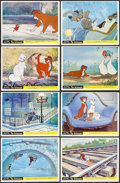 """Movie Posters:Animation, The Aristocats (Buena Vista, 1971). British Front of House Color Photos (8) (8"""" X 10""""). Animation.. ... (Total: 8 Items)"""