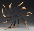 Sculpture, James Surls (American, b. 1943). Wheel. Metal and wood. 35 inches (88.9 cm) high. PROPERTY FROM A PRIVATE COLLECTION, ...