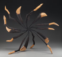 James Surls (American, b. 1943) Wheel Metal and wood 35 inches (88.9 cm) high  PROPERTY FRO