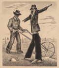 Fine Art - Work on Paper:Print, William Lewis Lester (American, 1910-1991). The Scarecrow,1939. Lithograph. 11-1/2 x 9-3/4 inches (29.2 x 24.8 cm) (ima...
