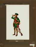 Books:Prints & Leaves, Don Troiani, artist. Original Watercolor of a Hessian Jaeger of Lt.Gen. Wilheim von Knyphausen's Regiment, 1776....