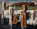 Fine Art - Painting, American:Contemporary   (1950 to present)  , William Lewis Lester (American, 1910-1991). Edge of Water.Oil on masonite. 22-1/2 x 28 inches (57.2 x 71.1 cm). Signed ...