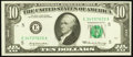 Error Notes:Ink Smears, Fr. 2018-E $10 1969 Federal Reserve Note. Choice CrispUncirculated.. ...