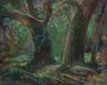 Fine Art - Painting, American:Modern  (1900 1949)  , Olin Travis (American, 1888-1975). Spirits of the Forest.Oil on canvas. 24 x 30 inches (61.0 x 76.2 cm). Signed lower r...