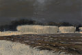 Fine Art - Painting, American:Contemporary   (1950 to present)  , Dan Wingren (American, 1923-1998). Plowed Fields. Oil oncanvas. 20 x 30 inches (50.8 x 76.2 cm). Signed lower right:...