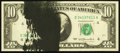 Error Notes:Ink Smears, Fr. 2023-D $10 1977 Federal Reserve Note. Choice CrispUncirculated.. ...
