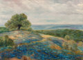 Fine Art - Painting, American:Modern  (1900 1949)  , Frank Klepper (American, 1890-1952). Bluebonnets Haze. Oilon canvas. 22 x 30 inches (55.9 x 76.2 cm). Signed lower righ...