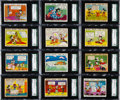 Non-Sport Cards:Sets, 1940 Gum Inc. Mickey Mouse SGC Graded Complete Set (96)....