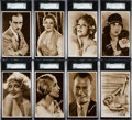 "Non-Sport Cards:Sets, 1930 Sarony Cigarettes ""Cinema Stars"" Fifth Series Postcard SGCGraded Complete Set (25). ..."