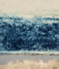 Works on Paper, Bill Bomar (American, 1919-1991). Blue Sea. Watercolor and mixed media on paper. 10-1/2 x 9 inches (26.7 x 22.9 cm) (sig...