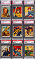 "Non-Sport Cards:Sets, 1933 R136 National Chicle ""Sky Birds"" SGC-Graded Partial Set(57/108). ..."