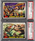 Non-Sport Cards:Lots, 1962 Topps Mars Attacks PSA NM-MT Graded Pair (2). ...