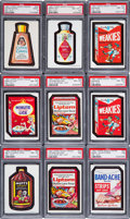Non-Sport Cards:Lots, 1967 Topps Wacky Packs (Die-Cut) PSA Graded Group (12). ...