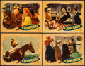 "Movie Posters:Short Subject, Going Places (Universal, 1935). Linen Finish Lobby Cards (4) (11"" X14""). Short Subject.. ... (Total: 4 Items)"
