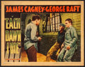 """Movie Posters:Crime, Each Dawn I Die (Warner Brothers, 1939). Linen Finish Lobby Card (11"""" X 14""""). Crime.. ..."""
