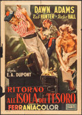 "Movie Posters:Adventure, Return to Treasure Island (United Artists, 1954). Italian 2 - Fogli(39.5"" X 55""). Adventure.. ..."