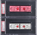 Baseball Collectibles:Tickets, 1981 Pawtucket vs. Rochester Full Tickets To The Longest BaseballGame Played Both PSA Graded. ...