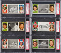 Baseball Cards:Lots, 1912 T202 Hassan Triple Folders PSA Graded Collection (12). ...
