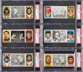 Baseball Cards:Lots, 1912 T202 Hassan Triple Folders PSA Graded Collection (15). ...