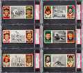 Baseball Cards:Lots, 1912 T202 Hassan Triple Folder PSA EX-MT Collection (13). ...