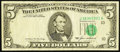 Error Notes:Obstruction Errors, Fr. 1978-J $5 1985 Federal Reserve Note. Very Fine.. ...
