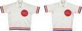 Basketball Collectibles:Uniforms, Mid 1980's Kyle Macy and Jeff Cook Game Worn Phoenix Suns WarmupUniforms (2)....