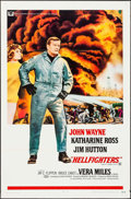 "Movie Posters:Action, Hellfighters (Universal, 1969). One Sheet (27"" X 41"") Flat Folded.Action.. ..."