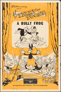 """Terry-Toons Stock: A Bully Frog (20th Century Fox, 1937). One Sheet (27"""" X 41""""). Animation"""