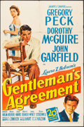 "Movie Posters:Drama, Gentleman's Agreement (20th Century Fox, 1947). One Sheet (27"" X41""). Drama.. ..."