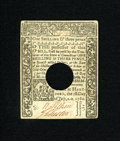 Colonial Notes:Connecticut, Connecticut July 1, 1780 1s/3d Choice About New. A couple of faintcorner folds are seen on this well signed and boldly prin...