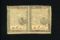 Colonial Notes:Pennsylvania, Pennsylvania April 10, 1777 6d Horizontal Pair About New. Aspectacular horizontal pair of notes with bold signatures and pr...(Total: 2 notes)