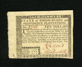 Colonial Notes:Rhode Island, Rhode Island July 2, 1780 $5 Gem New. A lovely gem example of thispopular issue that has huge margins and fantastic eye app...