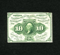 Fractional Currency:First Issue, Fr. 1241 10c First Issue Choice New. A fresh and bright example of this very scarce perforated no monogram variety. The ink...