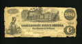Confederate Notes:1862 Issues, T39 $100 1862. Edge wear is found on this Good $100....