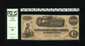 Confederate Notes:1862 Issues, T40 $100 1862. Only light handling is found on this C-note. PCGSExtremely Fine 45....