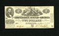 Confederate Notes:1862 Issues, T42 $2 1862. This is a well preserved example of this elusive issuein high grade. Choice Uncirculated....