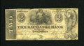 Obsoletes By State:Virginia, Norfolk, VA- Exchange Bank at Petersburg $2 May 7, 1861. A stamp hinge was used to mount this Virginia Obsolete. Very Good...