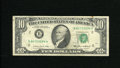 Error Notes:Ink Smears, Fr. 2027-B $10 1985 Federal Reserve Note. Fine. A green ink smearis found on the back....